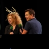 John Barrowman with fellow Doctor Who alum Alex Kingston at Emerald City Comicon 2015