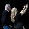 Stan Lee takes a selfie with Clare Kramer at Emerald City Comicon 2015